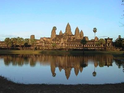 Scenic photo of Angkor Wat in Cambodia, Asia