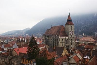 Scenic photo of buildings in Romania