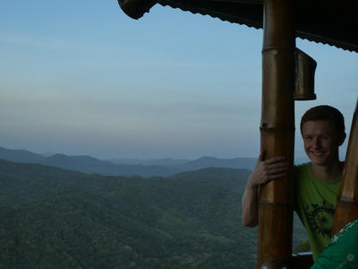 Henry enjoying the views from the lookout point