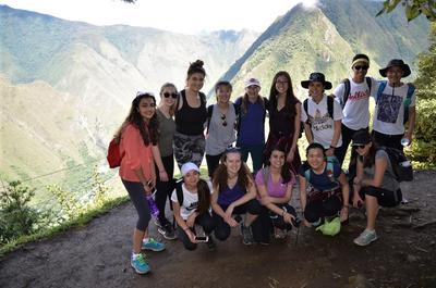 A visit to Machu Picchu as part of a group outing
