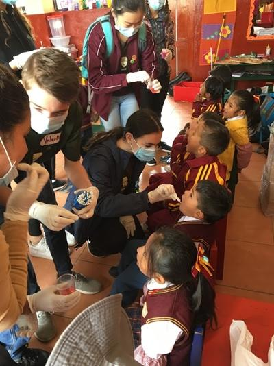 Group volunteering on the Care Project in Peru