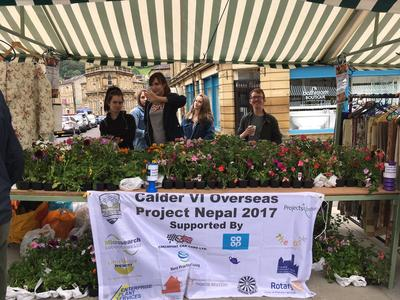 The Calder VI Group fundraising by selling plants
