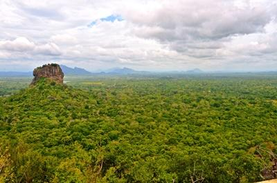 The view of Sigiriya from the top of Pidurangala