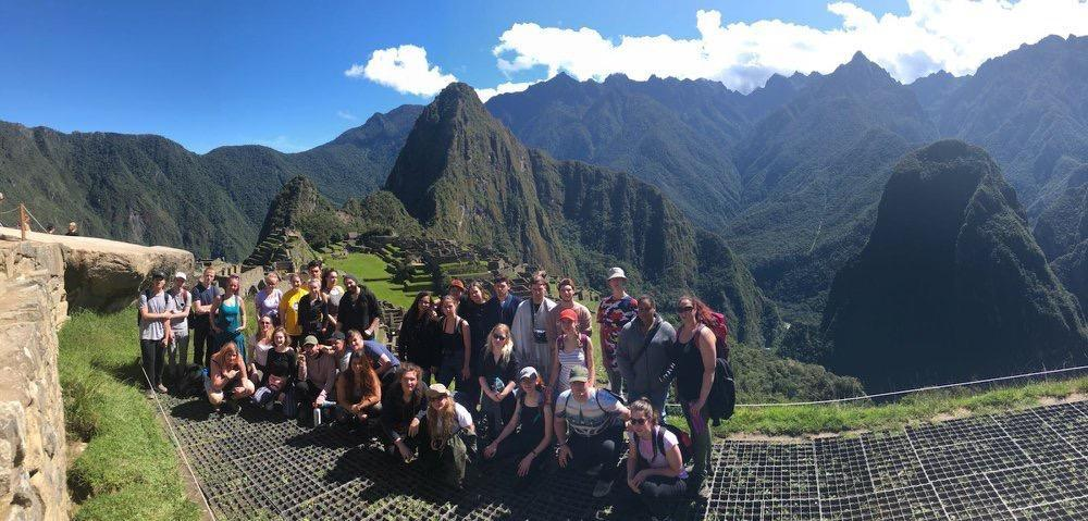 A shot of everyone at Machu Picchu on their final weekend
