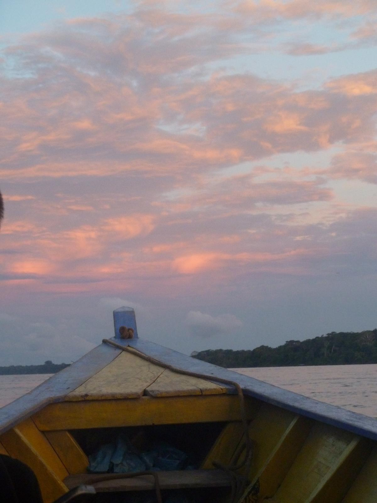One of the many beautiful sunsets as seen from the boat