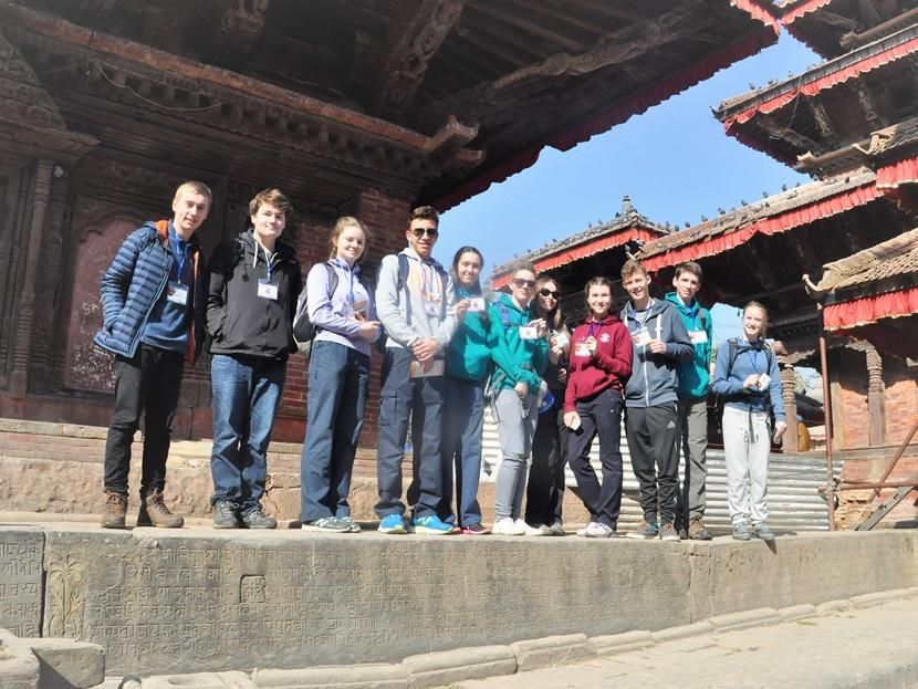 The group from Ulverston, UK, continuing their work to help rebuild schools in Nepal