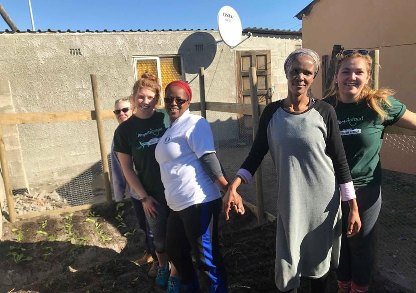 Volunteers meet local women