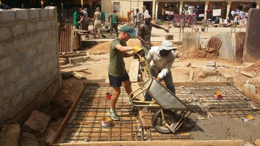 Building toilets in Ghana with local staff