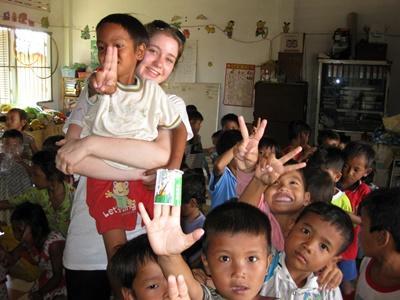 Volunteer doing Care work in Cambodia