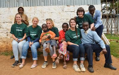 Projects Abroad Volunteers spend time with children from a Care centre in Nanyuki, Kenya