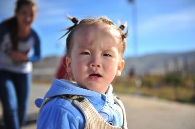 A local child