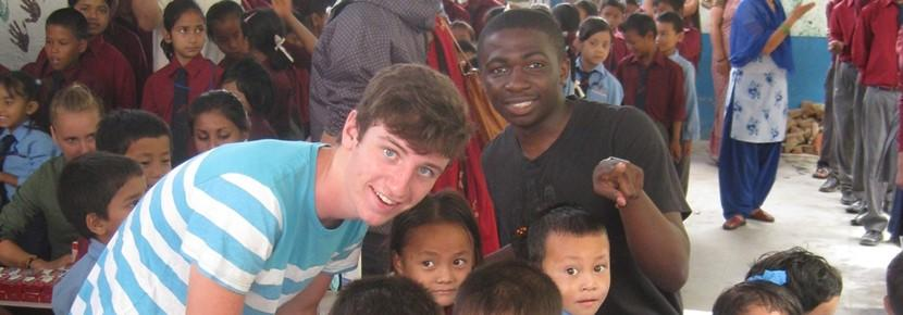 Overseas volunteer work with Children in Nepal