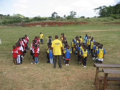 Volunteer Coaching sports in Jamaica