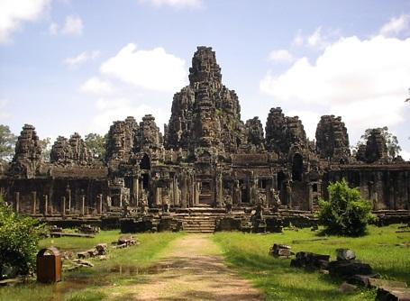 Scenic picture of Angkor Wat in Cambodia