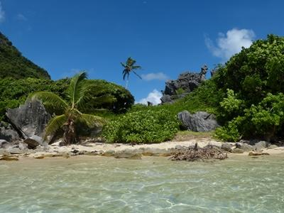 A scenic photo of a beach in Fiji