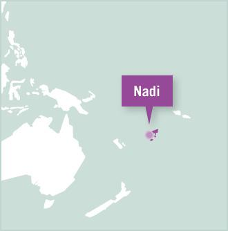 A map of Fiji shows the location of Nadi