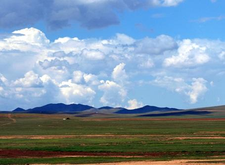 The huge open landscape of Mongolia