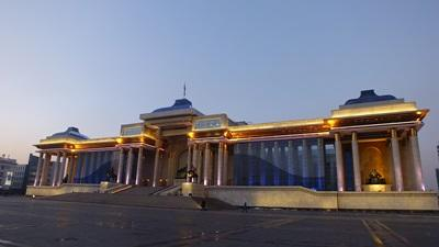 The main square of Ulaanbaatar