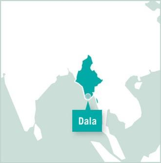 Myanmar Dala map