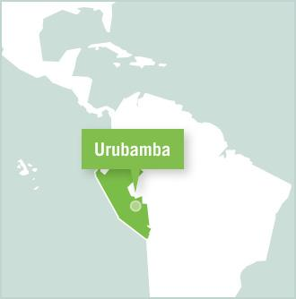 A map of Peru shows the position of Urubamba