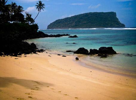 A stunning beach in Samoa
