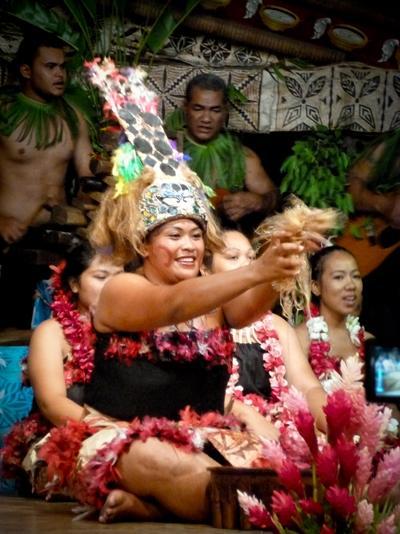 A local Samoan woman celebrating in an island festival