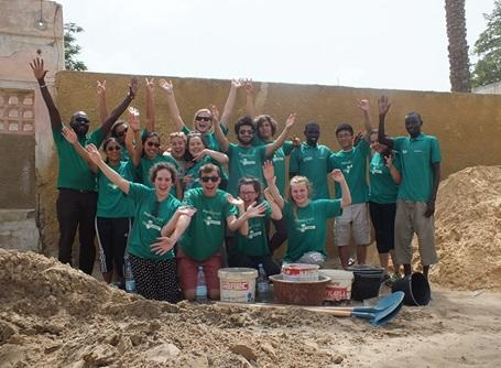 Volunteers on a two week special in Senegal, Africa.