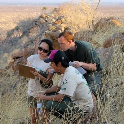 Projects Abroad Conservation volunteers and staff take park in Baobab census and protection work at Wild at Tuli reserve