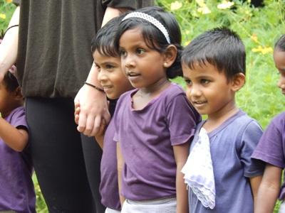 Children at a Projects Abroad Care placement in Sri Lanka take part in outdoor activities