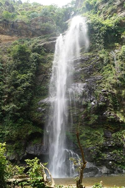 A scenic shot of Wli waterfall in Togo