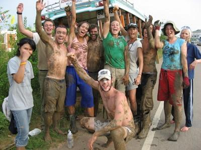 Happy volunteers in Thailand